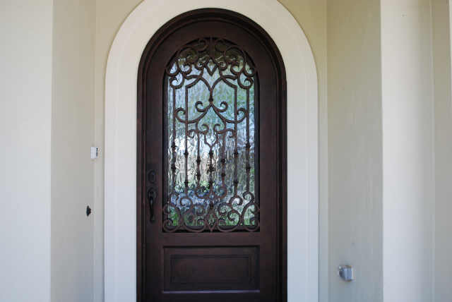 Arched Front Doors Cypress Glass And Mirror